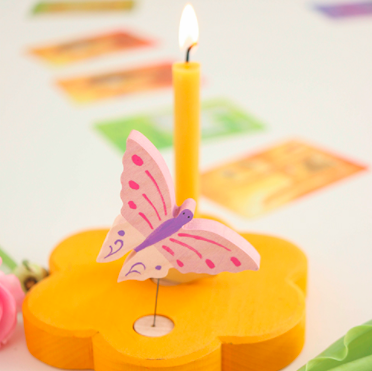 Birthday rings, figures and candles