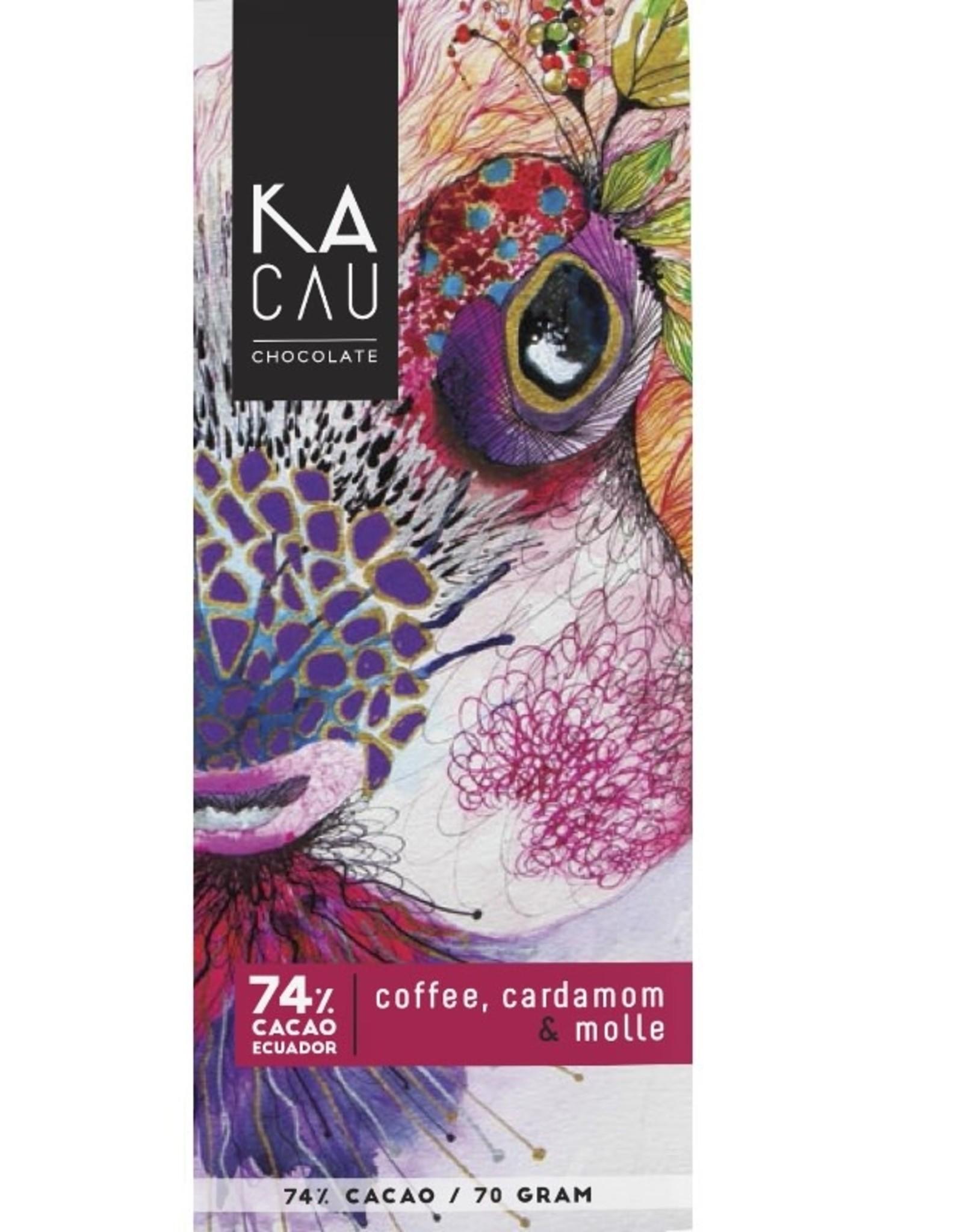 Kacau, Ecuador Koffie, Kardemon, Molle, puur 74%