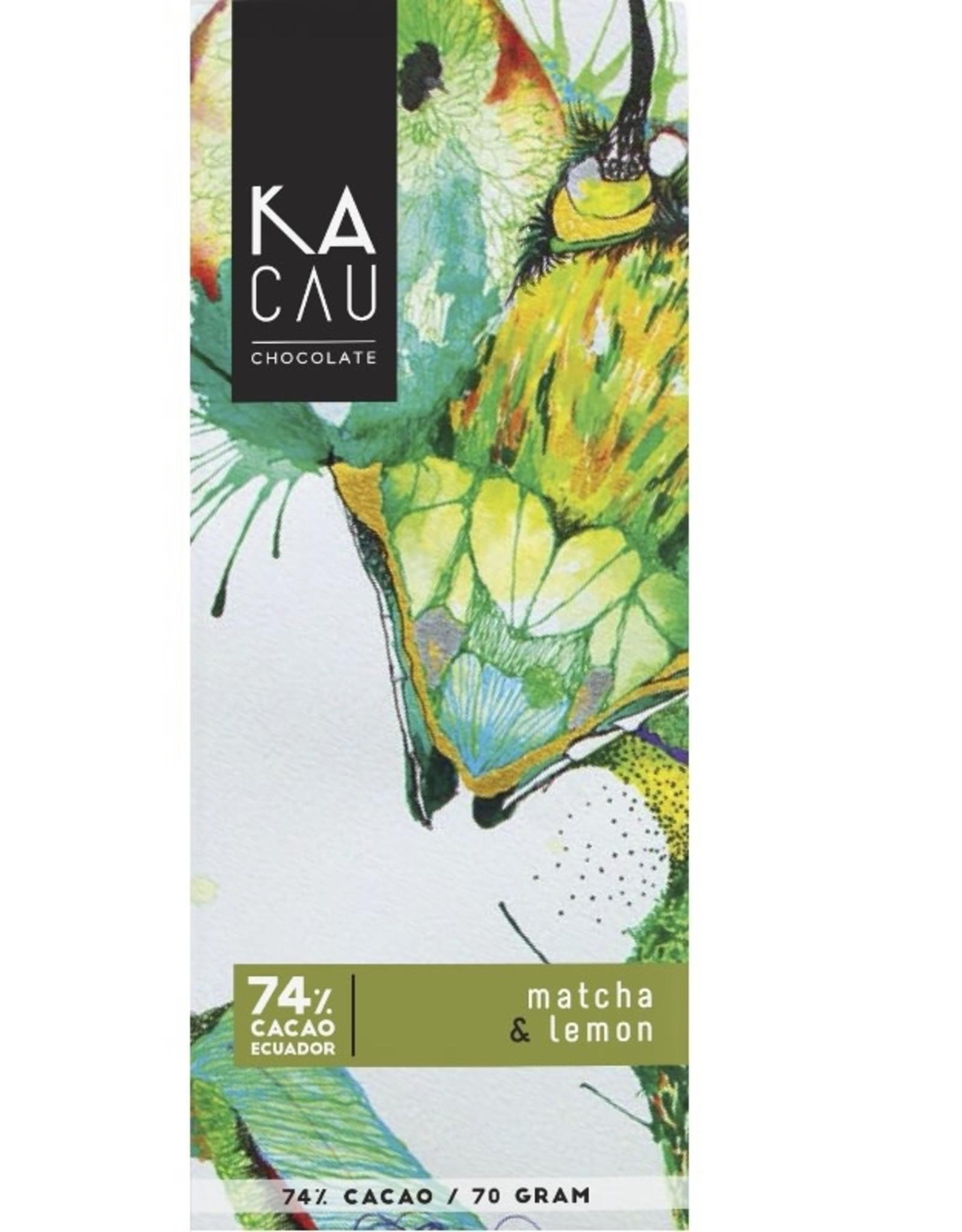 Kacau, Ecuador Matcha, Citroen, puur 74%