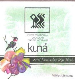 KUNÁ, Ecuador Kuná Rio Verde Esmeraldas 82% 30gr