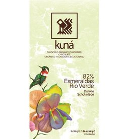 KUNÁ, Ecuador Kuná Rio Verde Esmeraldas 82% 60gr