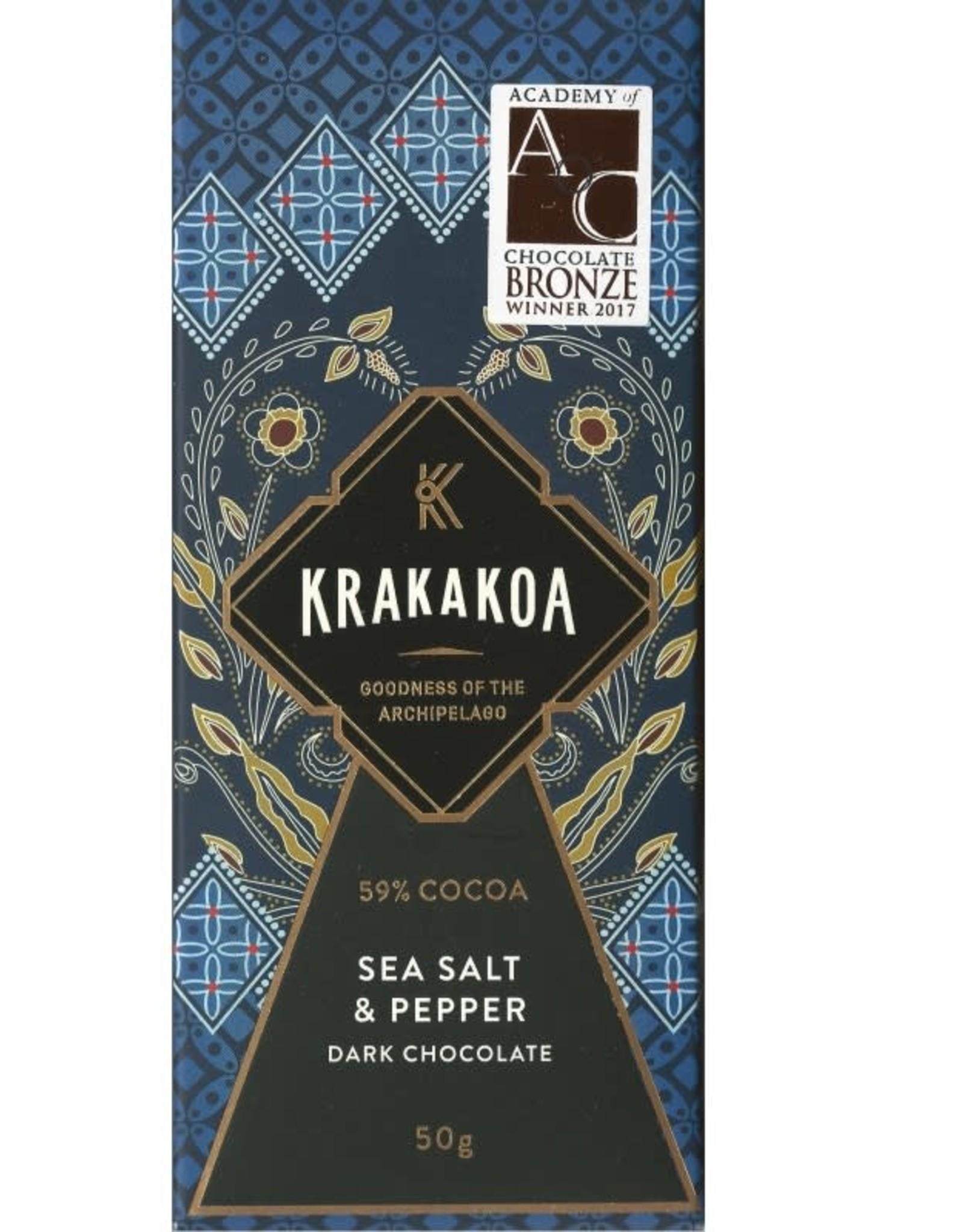 Krakakoa, Indonesia Zee zout, Peper donkere melk 59%