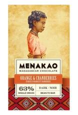 Menakao Sinaasappel en Cranberry puur63%