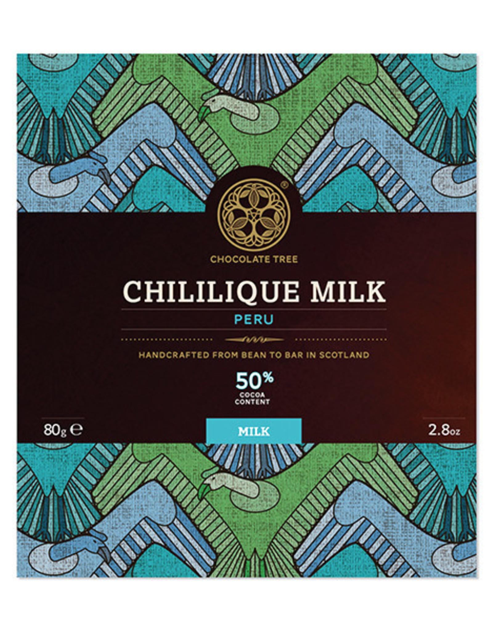 Chocolate tree, Scotland Chocolate Tree Chililique Milk 50%