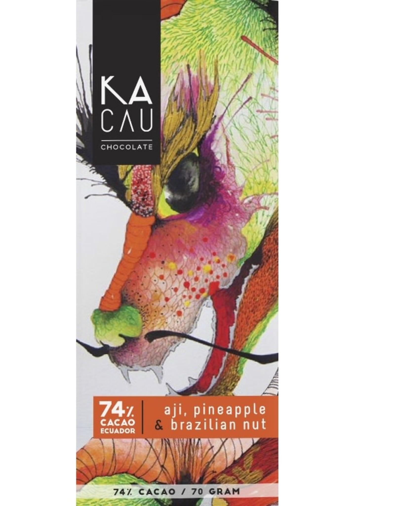 Kacau, Ecuador Hete peper, Ananas, Amazone noten puur 74%