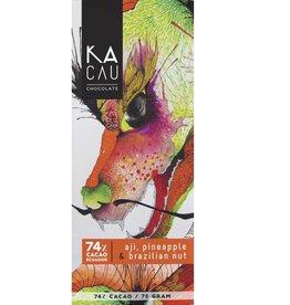 Kacau, Ecuador Hete peper, Ananas, Paranoten puur 74%