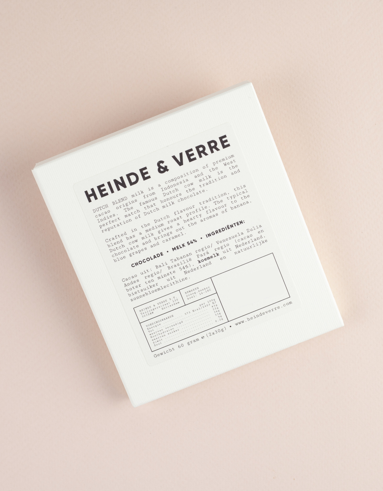Heinde&Verre, Netherlands Dutch Blend Melk 54%