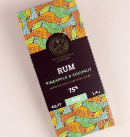 Chocolate tree, Scotland Chocolate Tree Rum Pineapple & Coconut 75% mini