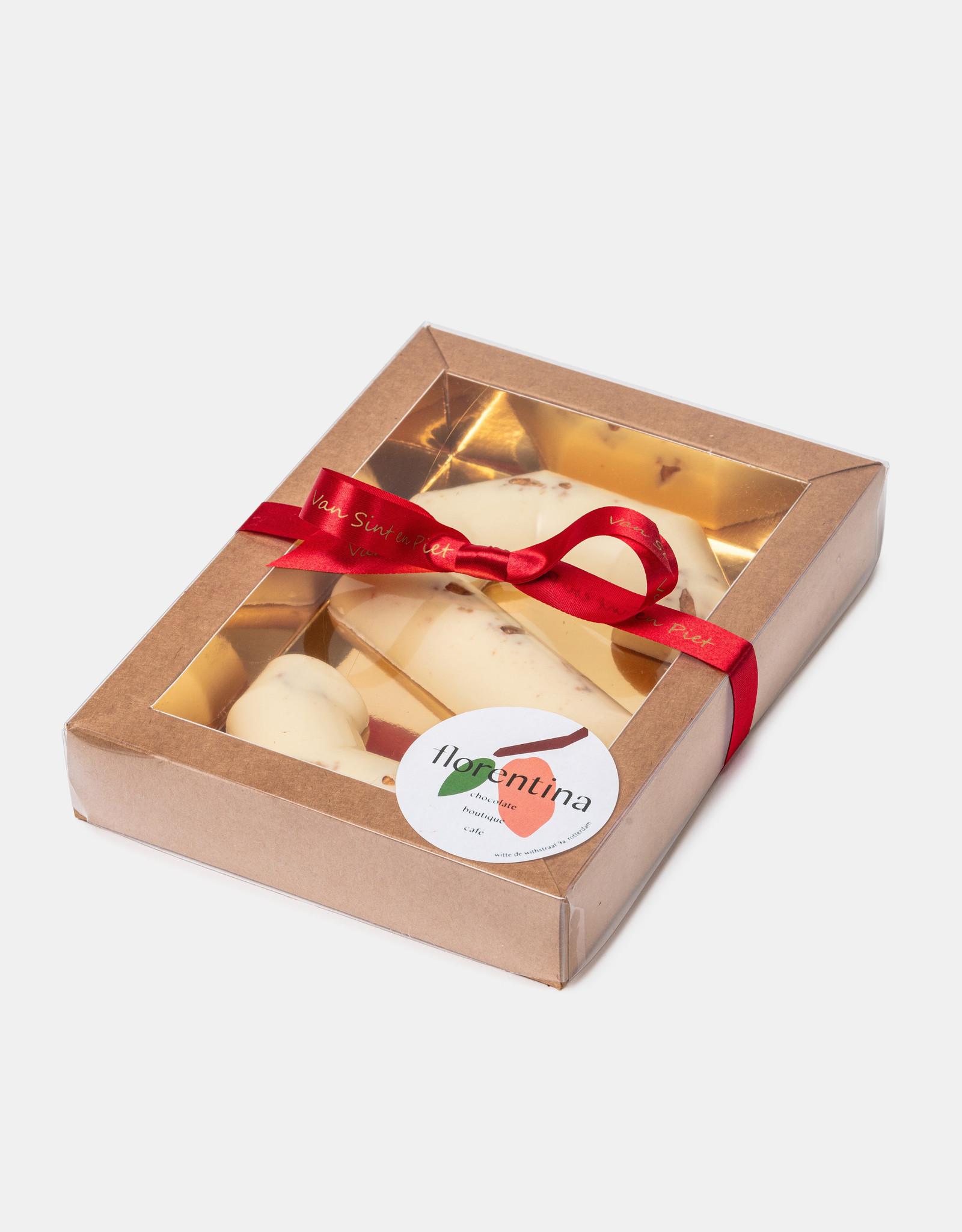 Florentina.Chocolates Sinterklaas Letter Stroopwafel White