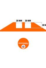 Ri-Traffic | Kabelbrug 2 Kanalen / Kabelgoot, Rubber, Zwart-Geel
