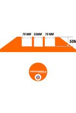 Ri-Traffic | Kabelbrug 3 Kanalen / Kabelgoot,  Rubber, Zwart-Geel