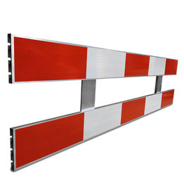 Ri-Traffic | Schrikhek aluminium 2,5m enkelzijdig reflecterend