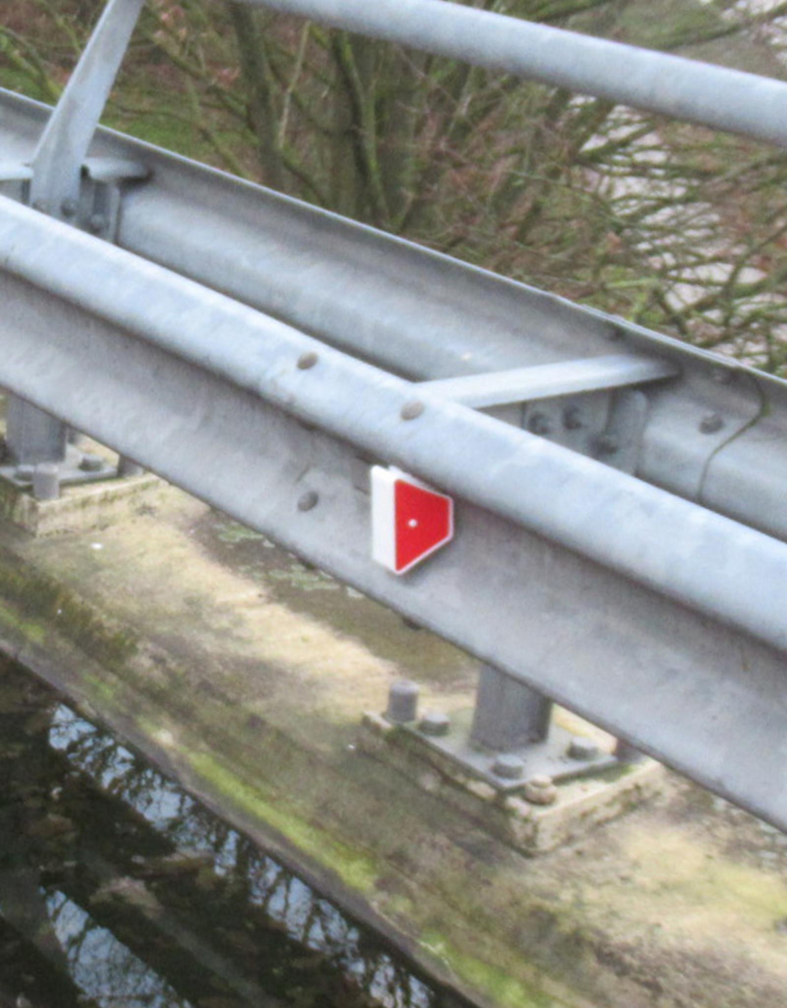 Verkeerswinkel.nl | 50 Geleiderail Reflectoren voor Vangrails
