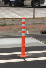 Ri-Traffic | Flexibele afzetpaal oranje, T-FLEX 100 cm plooibaken