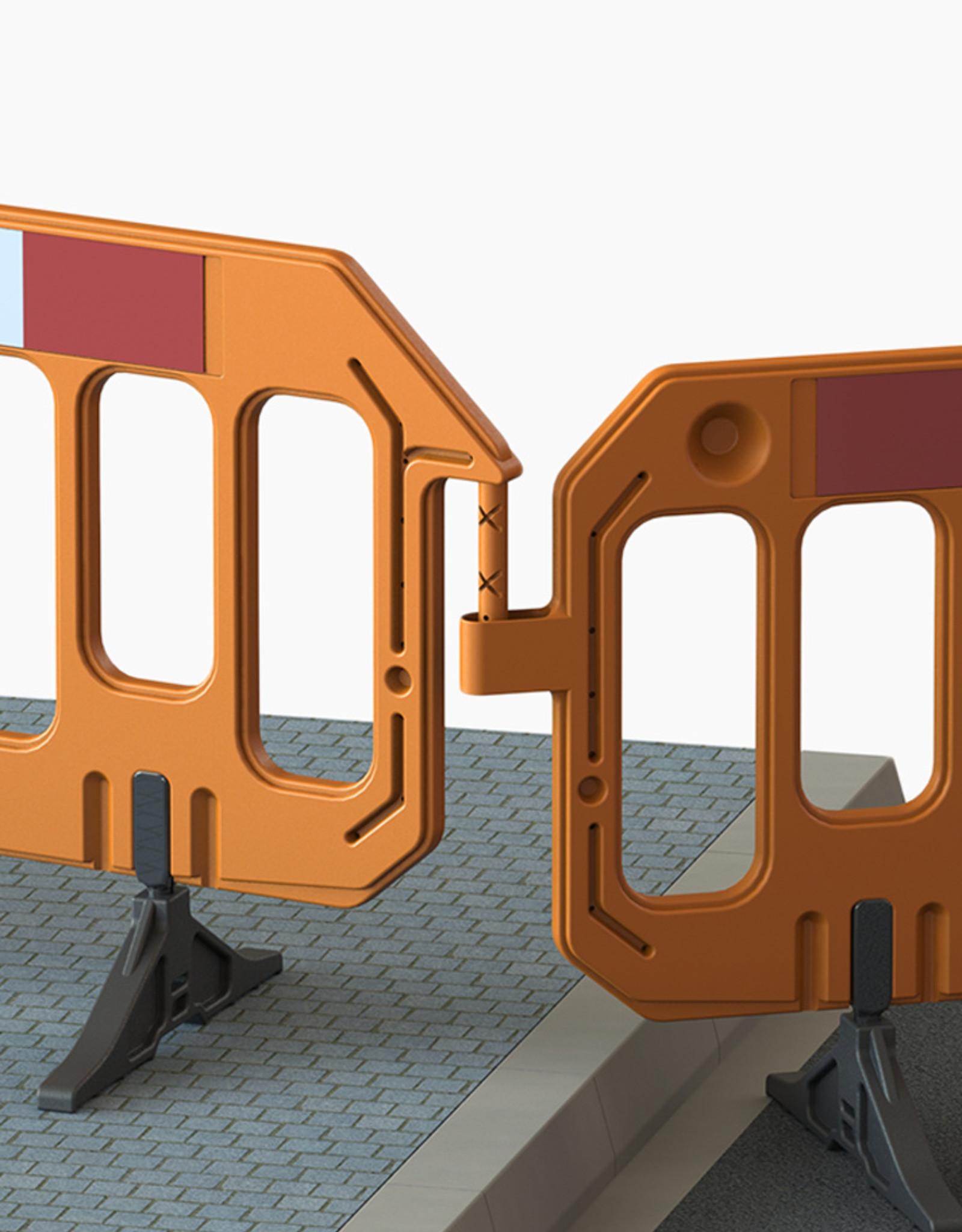 Verkeerswinkel.nl | Kunststof Afzethekken Oranje, 6 Stuks
