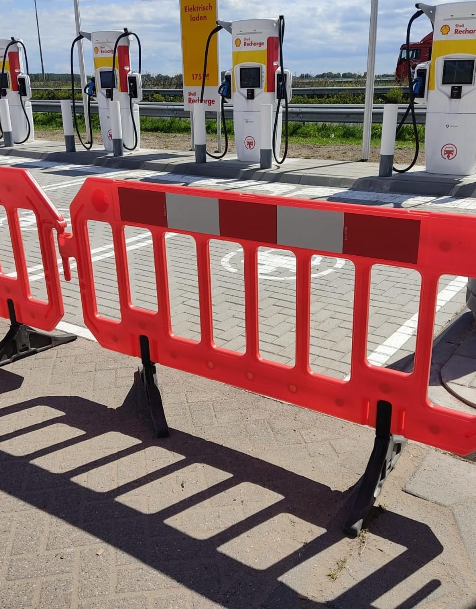 Ri-Traffic | Afzethek 200 cm x 100 cm (PVC Oranje) incl. Rood-Wit Reflectie
