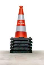 Ri-Traffic | Verkeerskegel 50cm met Reflecterend Folie Klasse 2 & jouw bedrijfslogo