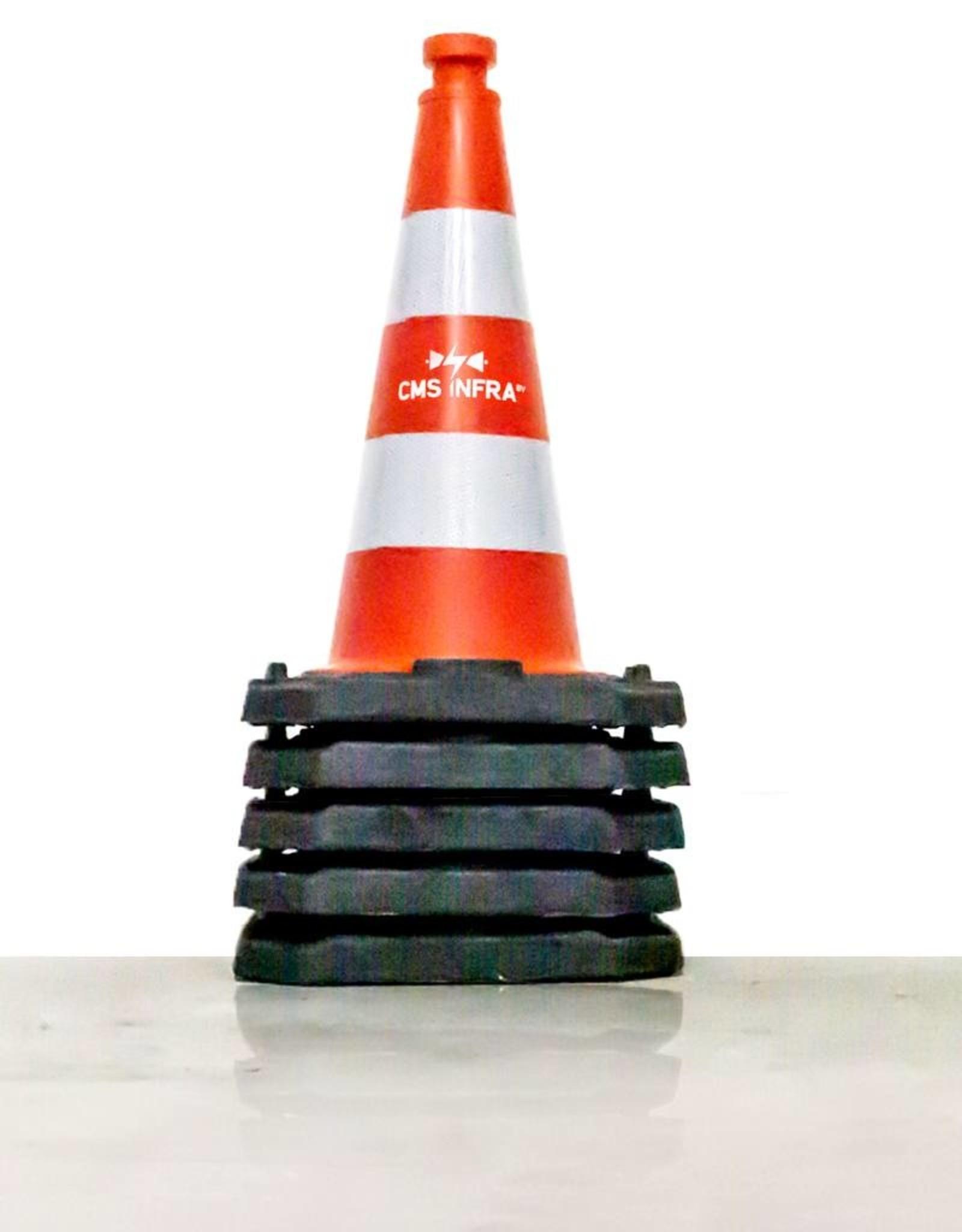 Ri-Traffic | Verkeerskegel 75cm met Reflecterend Folie Klasse 2 & jouw bedrijfslogo