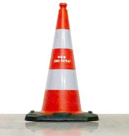 Ri-Traffic | Verkeerskegel met logo, 75cm, Reflecterend Folie Klasse 2