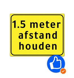 Verkeerswinkel.nl | 1,5 meter afstandsbord