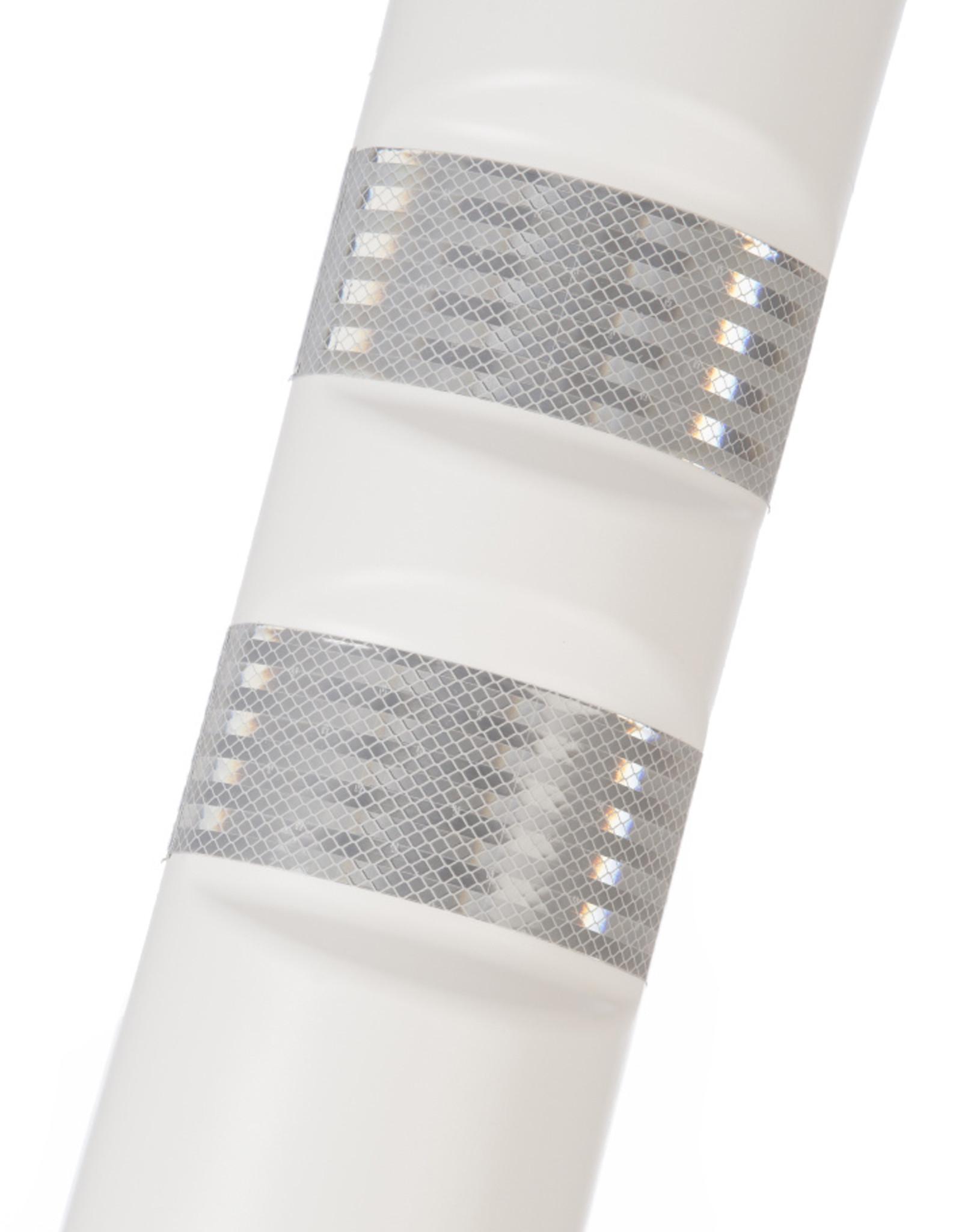 Ri-Traffic   Kunststof Plooibakens Wit 75 cm met Retroreflecterie