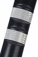 Ri-Traffic | Kunststof Plooibakens Zwart 75 cm met Retroreflecterie