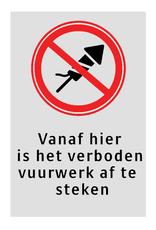 Ri-Traffic   Verkeersbord verboden vuurwerk af te steken