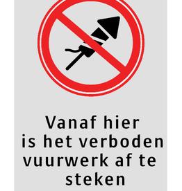 Ri-Traffic | Verkeersbord verboden vuurwerk af te steken