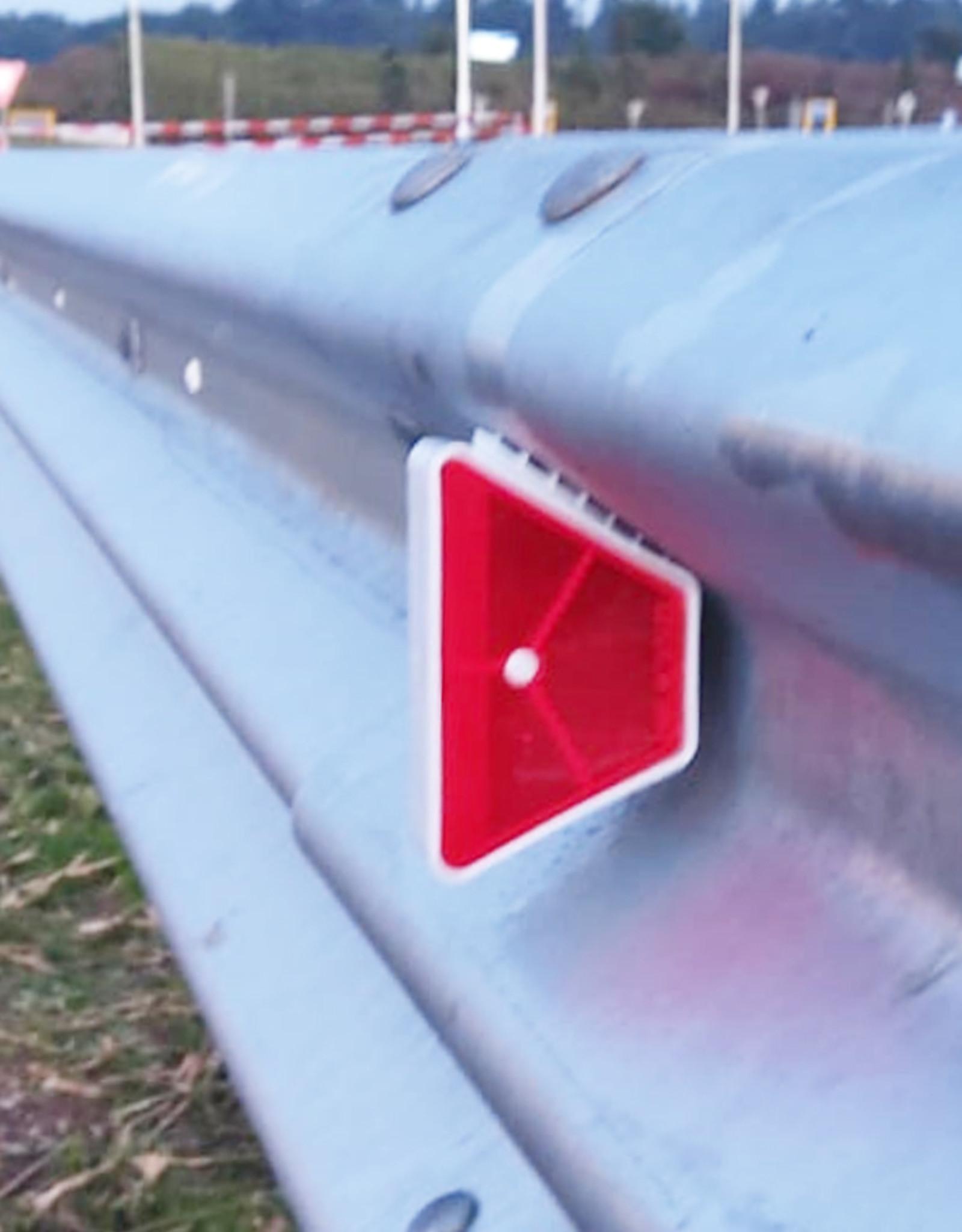 Ri-Traffic | Vangrail reflector rood-wit voor geleiderails
