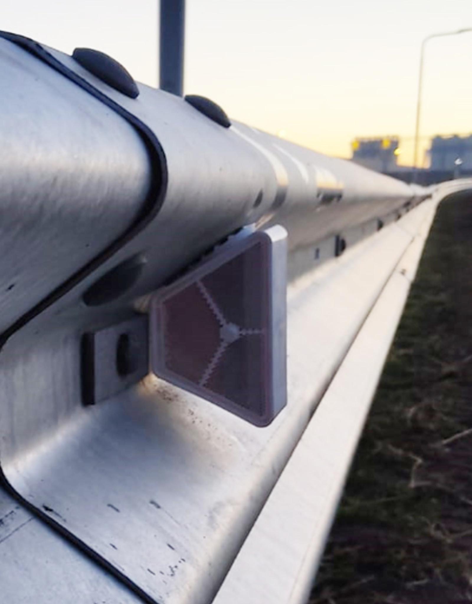 Ri-Traffic | Vangrail reflector oranje-wit voor geleiderails