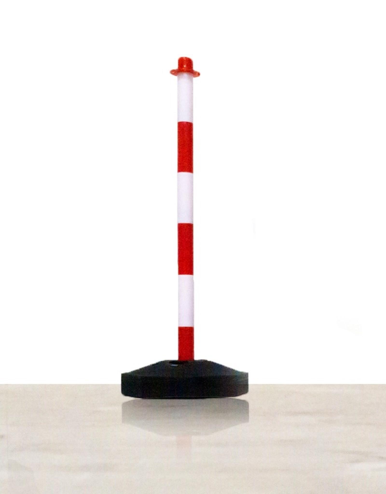 Ri-Traffic | Goedkope Kettingpaal Rood Wit met op te vullen Voet