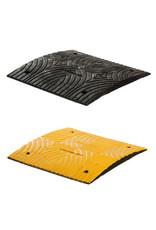 Ri-Traffic | Verkeersdrempel 3cm hoog, middenelement, zwart-geel, robuust kunststof
