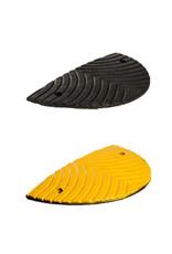 Ri-Traffic | Verkeersdrempel 3cm hoog, eindelement, zwart-geel, robuust kunststof