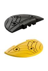 Ri-Traffic | Verkeersdrempel 5cm hoog, eindelement, zwart met geel, rubber
