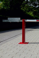 Verkeerswinkel.nl | Slagboom 300 cm tot 700 cm, incl. Staander, Contragewicht en Cilinderslot