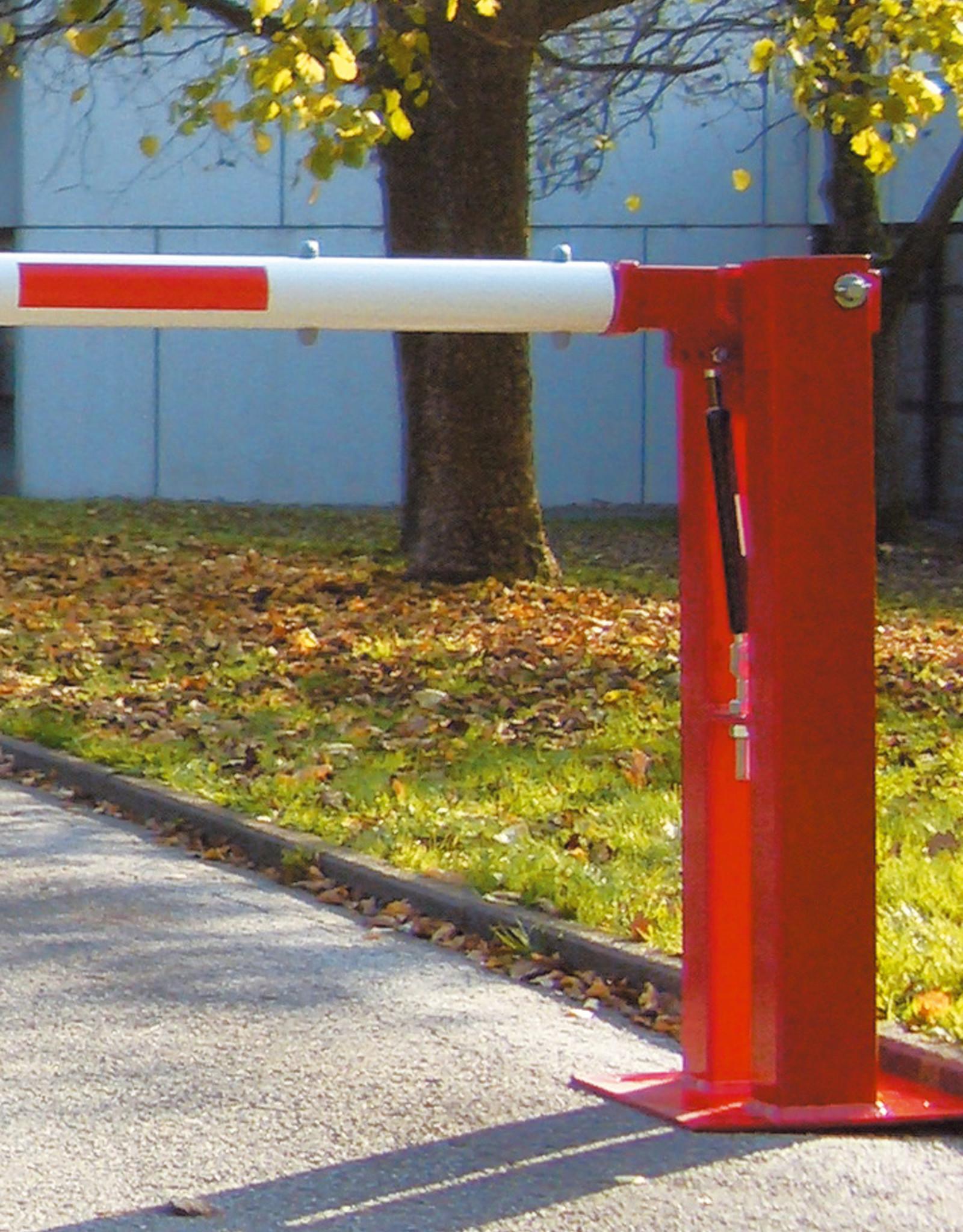 Verkeerswinkel.nl | Slagboom 300 cm tot 700 cm, incl. Staander, Gasveer en Hangslot