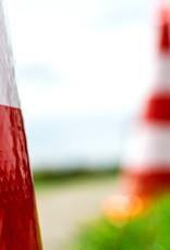 Molan | Eendelige verkeerskegel 75cm hoog, klasse 3 folie, reflecterend
