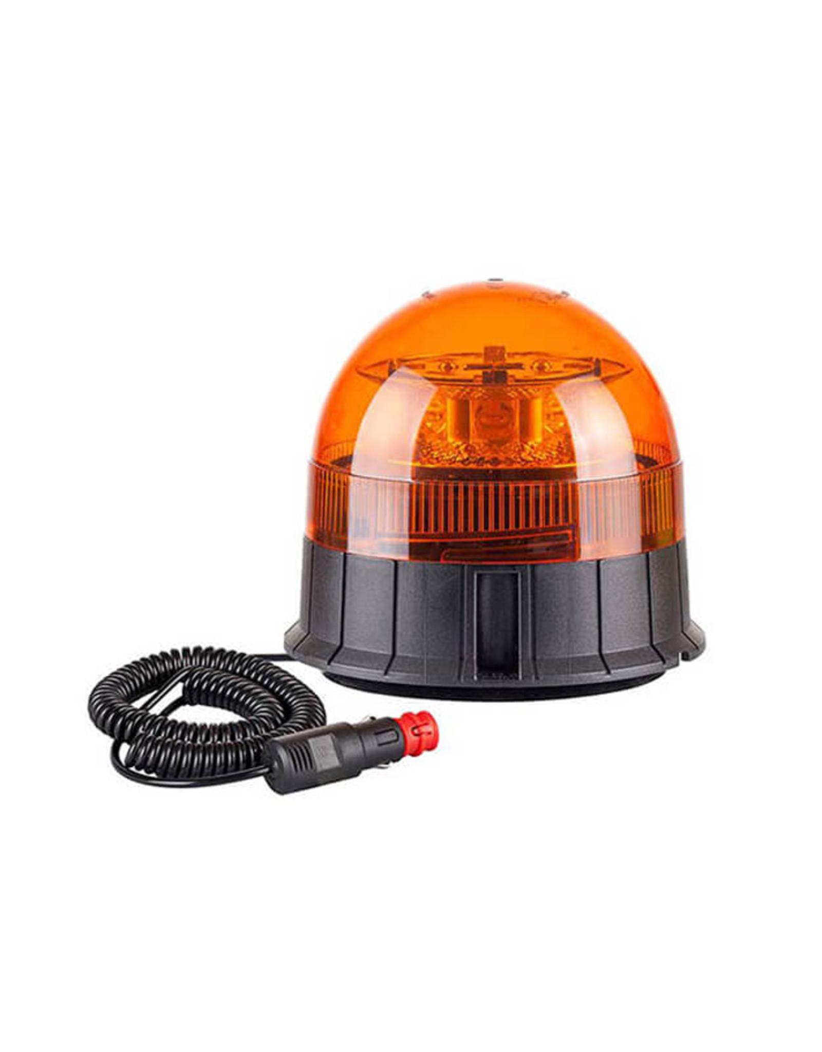 Ri-Traffic | Oranje LED Zwaailamp met Magneetvoet / Zuignapvoet (R65 Amber)
