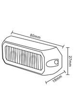 Ri-Traffic | LED Flitser 3 LED uitvoering Amber | 12-24v