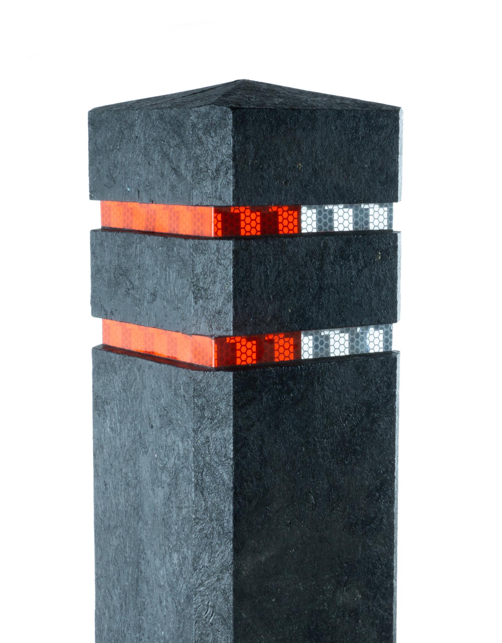 Ri-Traffic   Diamantkoppaal Kunststof / Anti Parkeerpaal / Trottoirpaal / Reflectorpaal