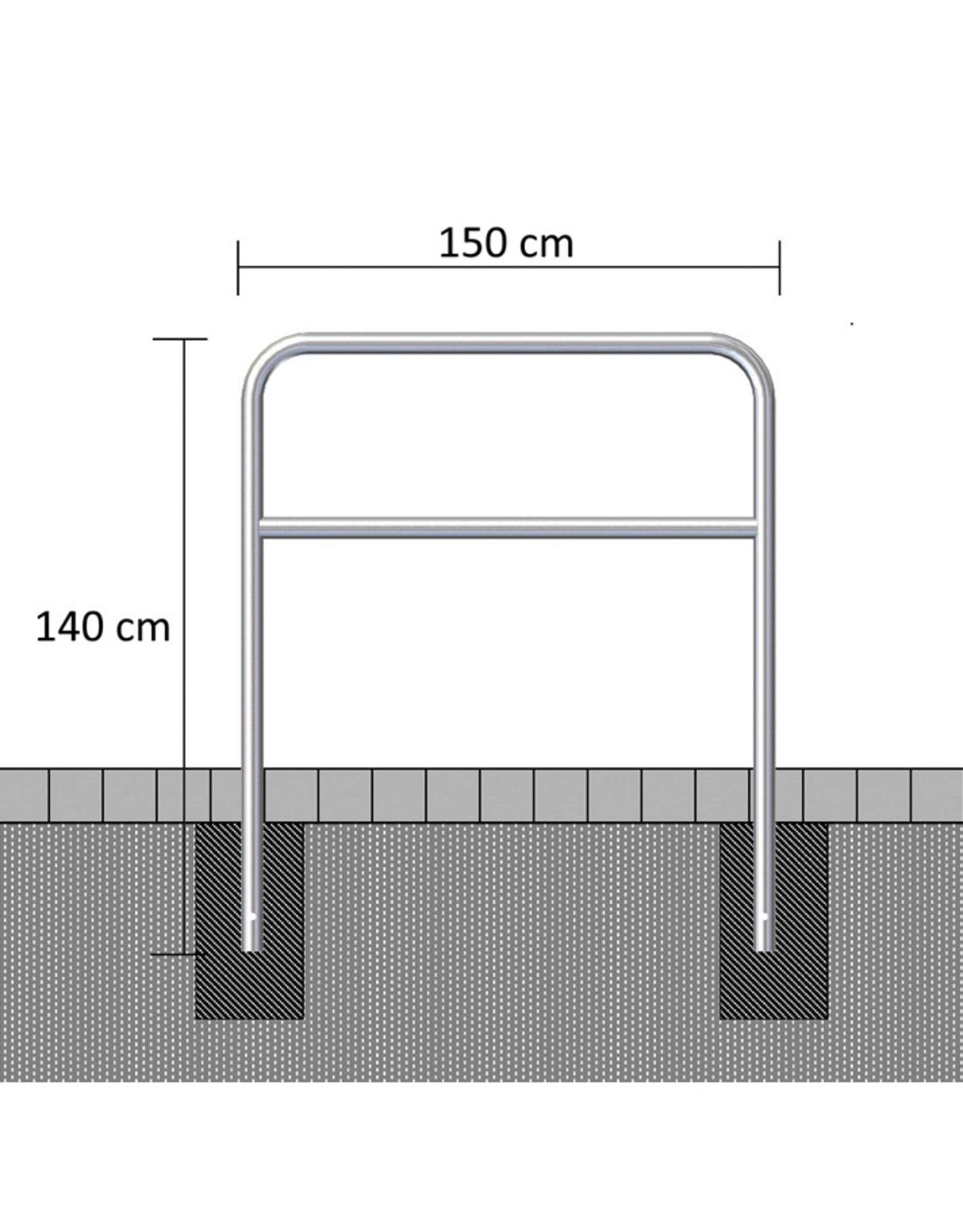 Ri-Traffic | Sluishekken Staal Gegalvaniseerd 150 cm x 140 cm