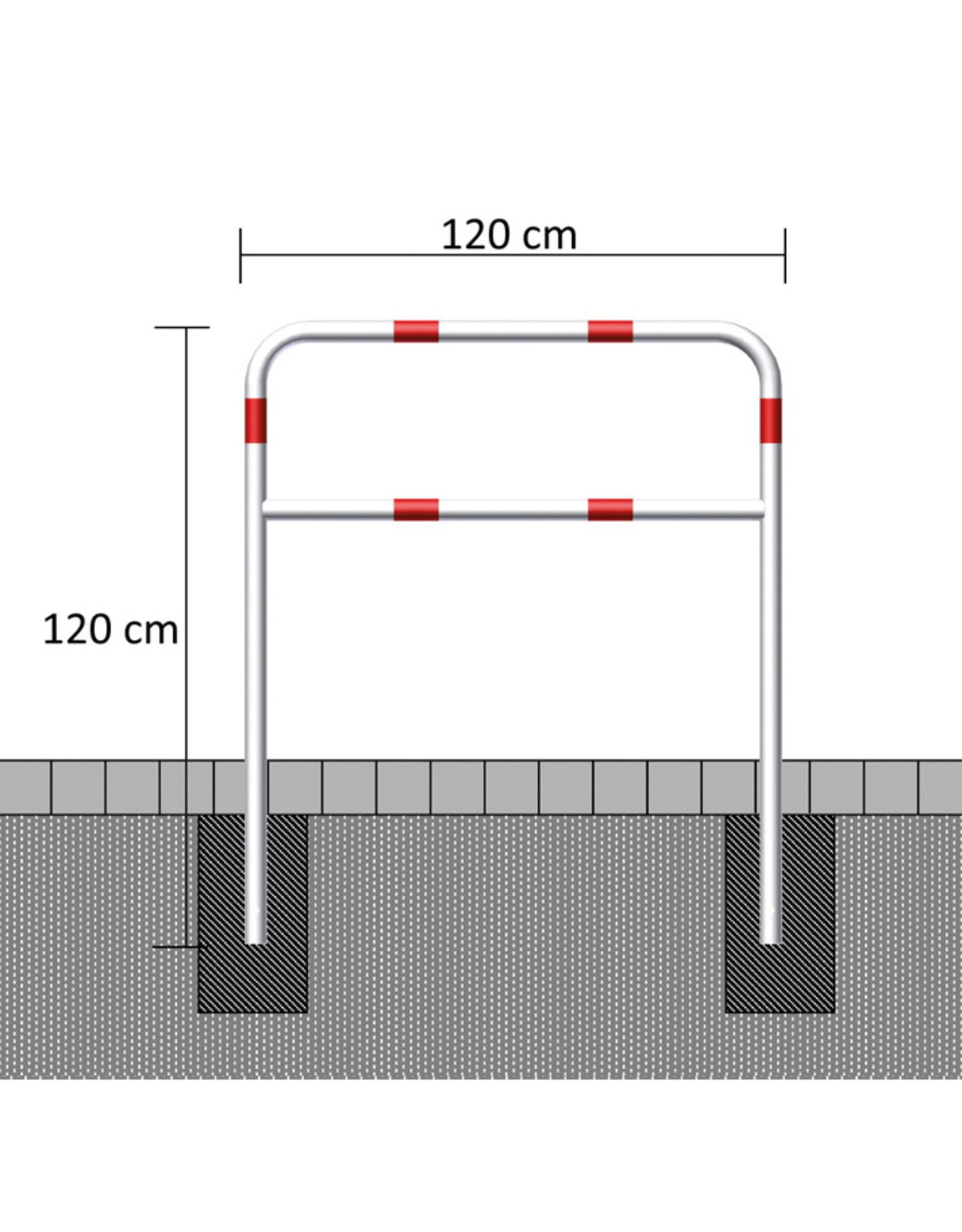 Ri-Traffic | Voetgangerssluis Staal, Rood-Wit, 120 cm x 120 cm