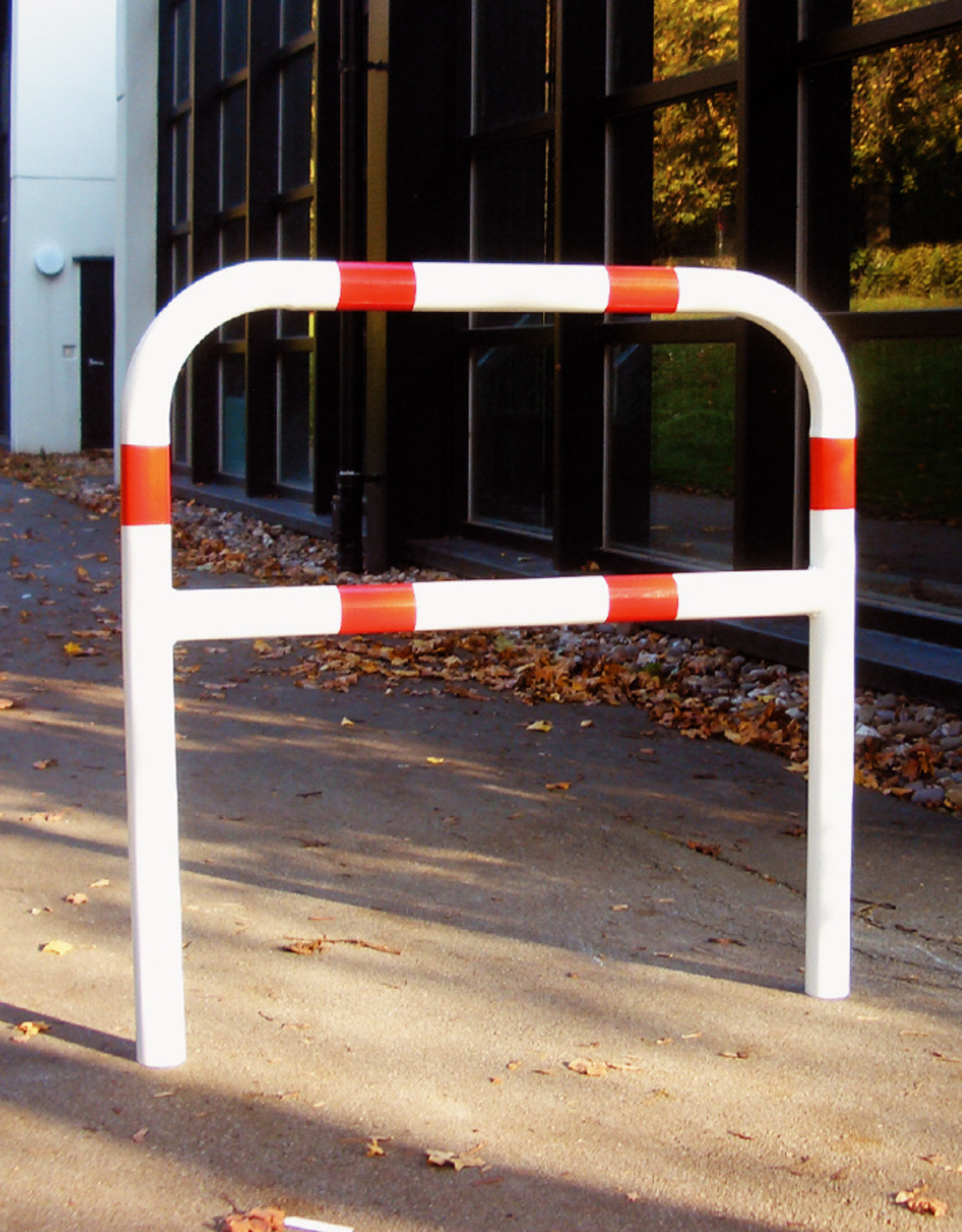 Ri-Traffic | Fietssluis Staal, Rood-Wit, 50 cm x 140 cm
