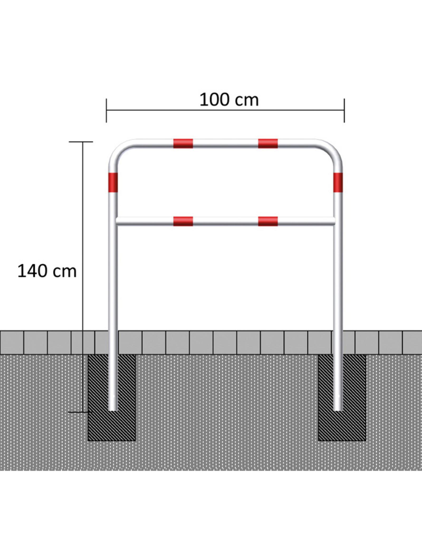 Ri-Traffic | Fietssluis Staal, Rood-Wit, 100 cm x 140 cm