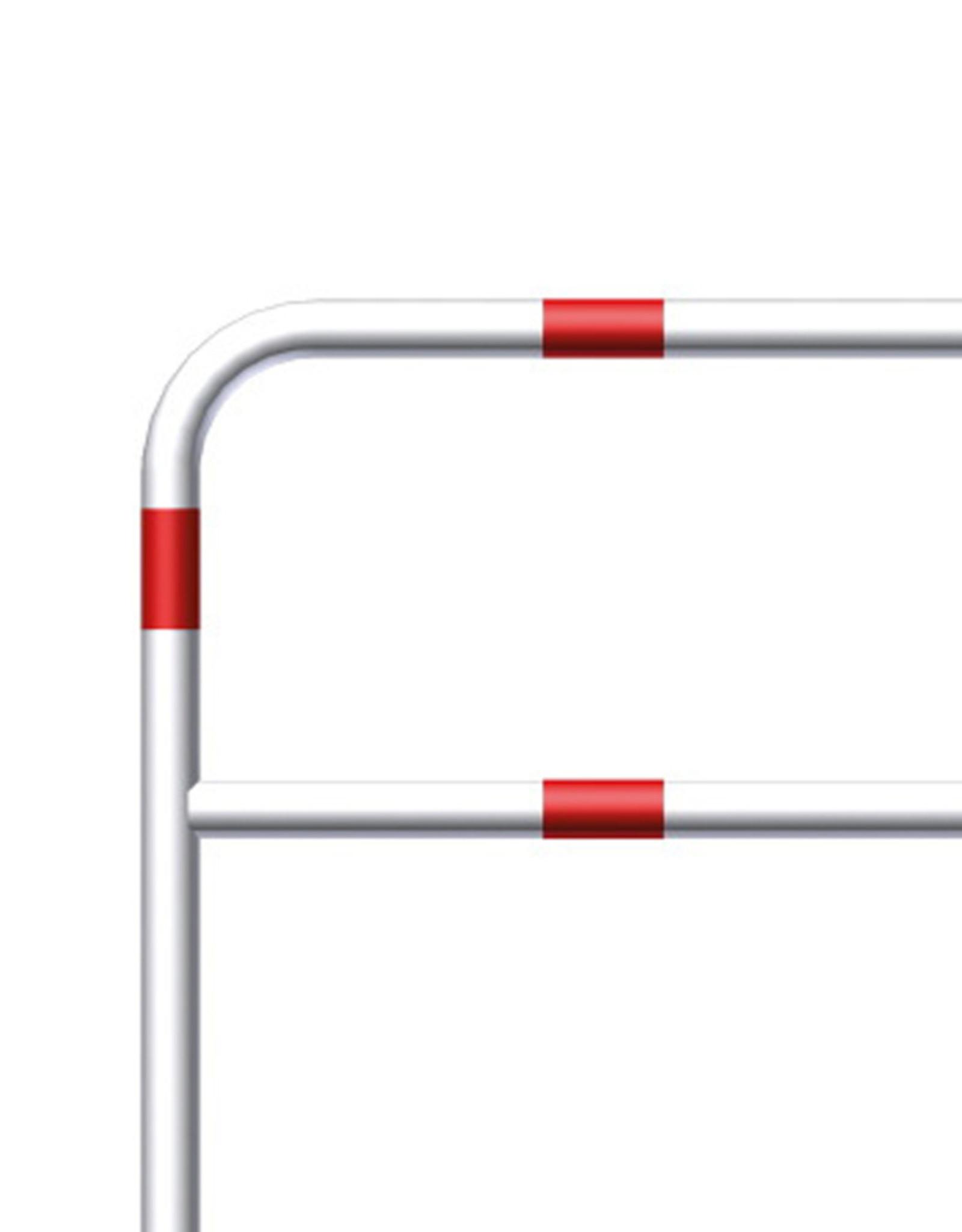 Ri-Traffic | Fietssluis Staal, Rood-Wit, 200 cm x 140 cm