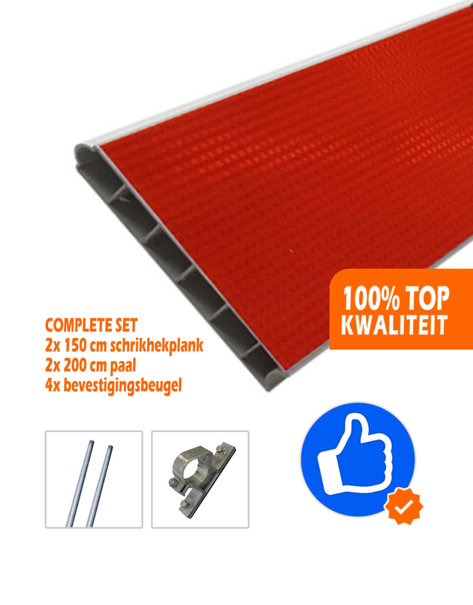 Verkeerswinkel.nl | Compleet Schrikhek 150 cm incl. alle materialen