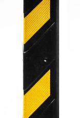 Ri-Traffic | Rubberen Hoekbeschermer 80 cm hoog, Zwart-Geel