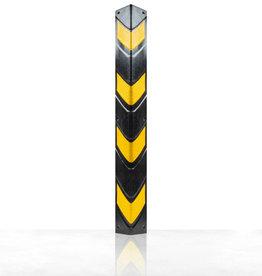Ri-Traffic | Hoekbeschermer Rubber 80 cm | Zwart-Geel