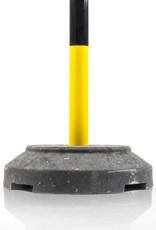 Ri-Traffic | Kettingpaal Staal Geel/Zwart met Verzwaarde Voet