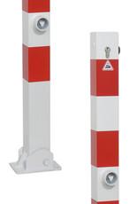 Ri-Traffic   Parkeerpaal klappaal met slot, rood-wit